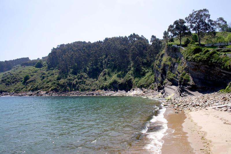 Beach at San Miguel Asturias Spain
