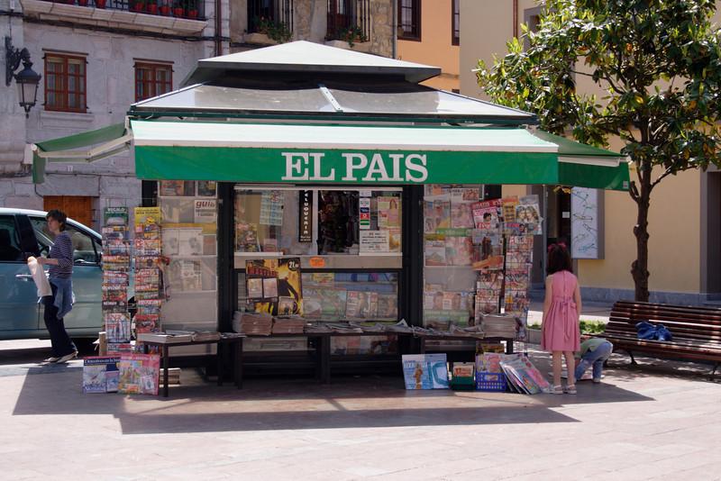 Kiosk in Ribadesella Asturias Spain