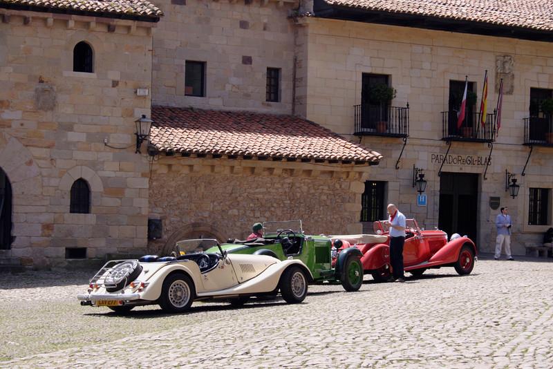 Classic antique cars at Santillana del Mar Spain