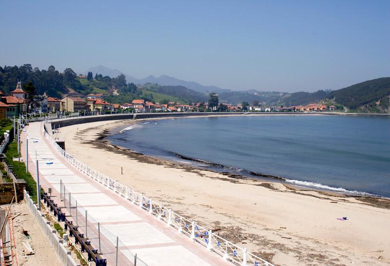 Beach at Ribadesella Asturias Spain