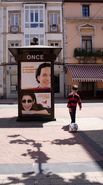 Advertising pillar Ribadesella Asturias Spain