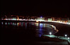 Beach at La Coruna Galicia Spain at night