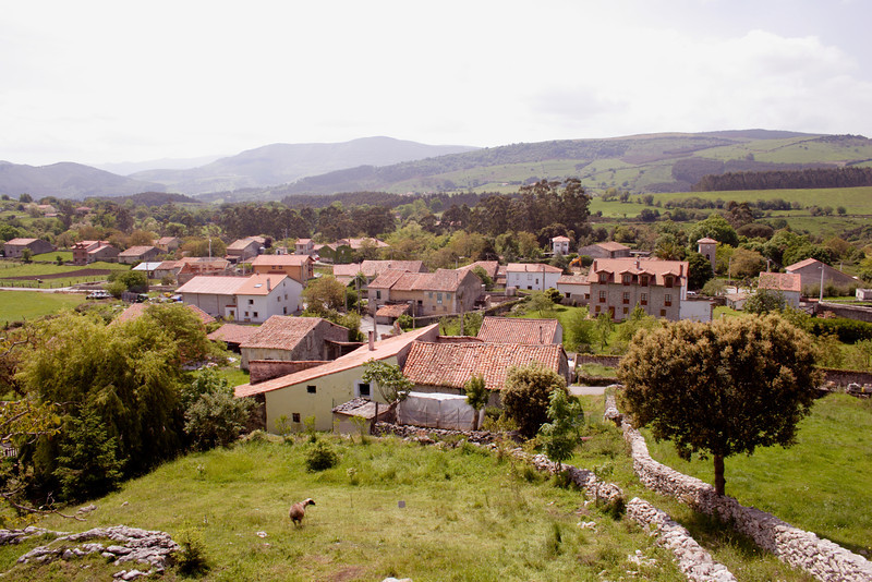 Village of Serdio Cantabria Spain
