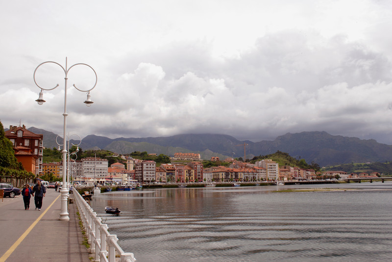 Waterfront at Ribadesella Asturias Spain