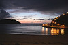Sea view at dusk Ribadesella Asturias Spain