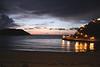 Sea view at dusk Ribadesella Asturias Spain