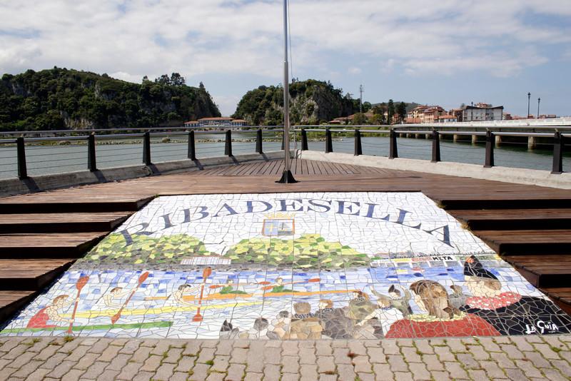 Ribadesella mural Asturias Spain