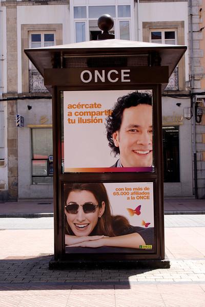 Advertising pillar Ribadesella Asturias Spain