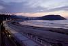 Beach at Ribadesella Asturias at dusk
