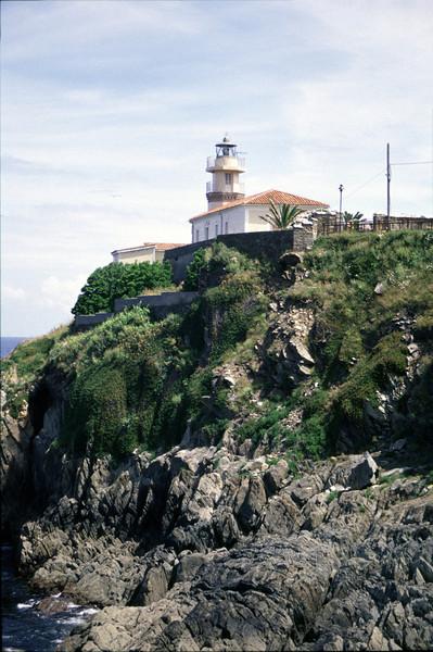 Lighthouse at Cudillero Asturias Spain