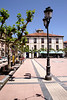 Town square in Ribadesella Asturias Spain