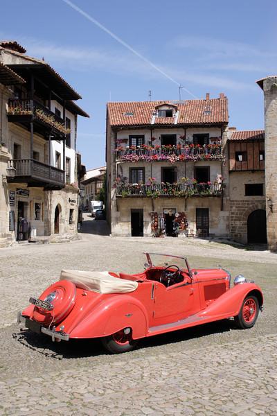 Vintage Bentley at Santillana del Mar Spain