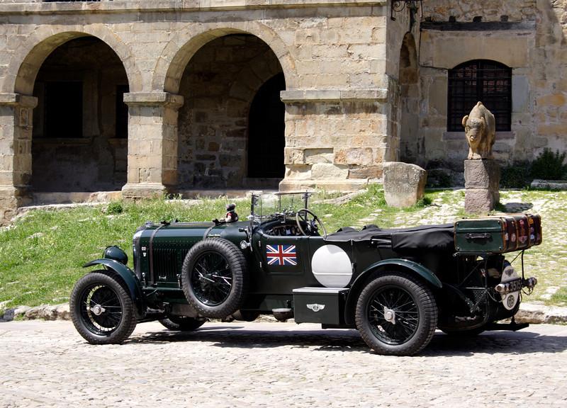 Antique Bentley at Santillana del Mar Spain