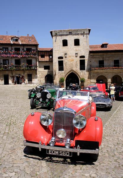 Vintage Bentley at Santillana del Mar Cantabria Spain