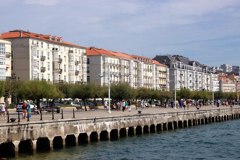 Seafront promenade by Paseo de Pereda Santander Cantabria Spain