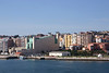 Seafront cityscape and Palace Festival building Santander Cantabria Spain
