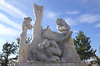 Monument Fire Statue in Jardines de Pereda Santander Spain