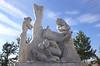 Monument Fire Statue in Jardines de Pereda Santander Spain