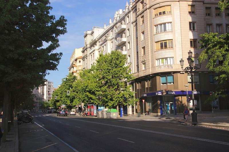 View along Calle Calvo Sotelo Santander Cantabria Spain