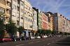 View along Calle Antonio Lopez Santander Cantabria Spain