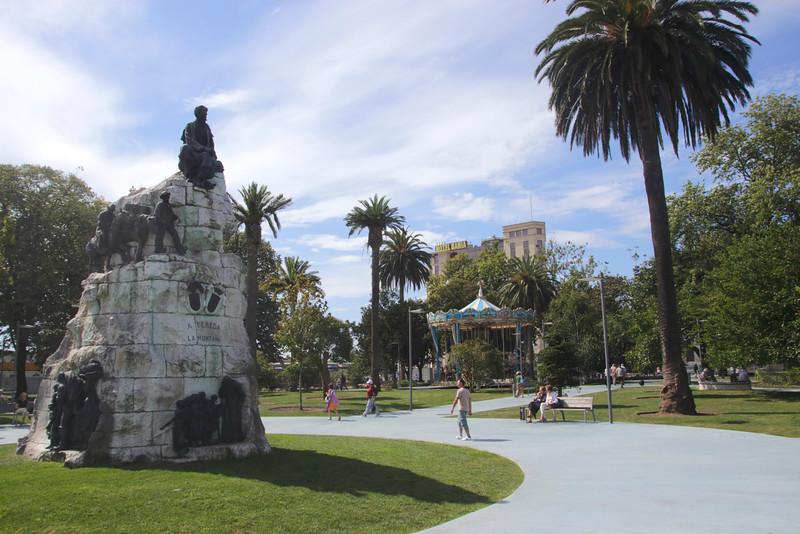 Monumento a Jose María de Pereda in Jardines de Pereda Santander Spain