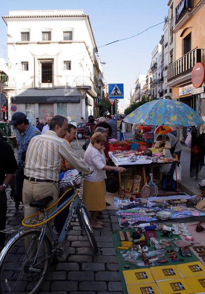 Calle de la Feria street market Seville October 2007