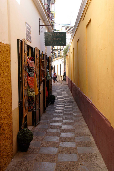 Alleyway Santa Cruz district Seville