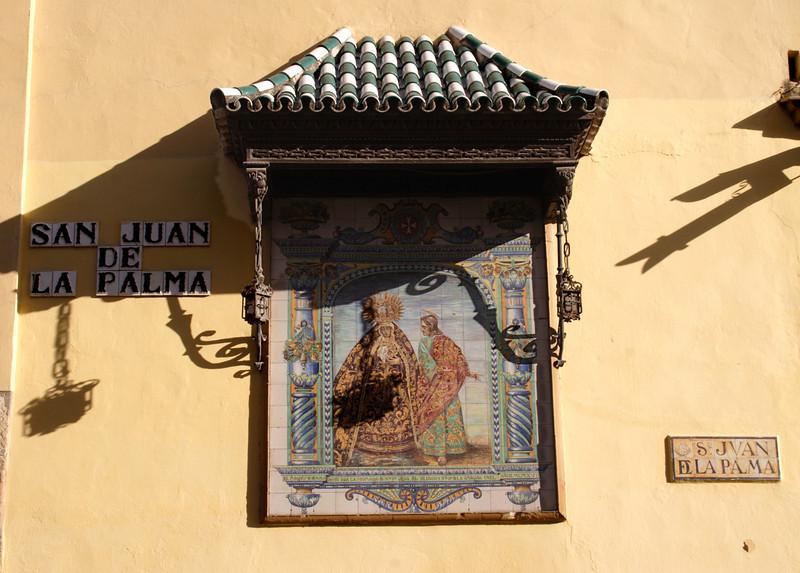 Wall mural on the Iglesia San Juan de la Palma church Seville