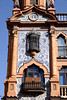 Building facade at Plaza Jesus de la Pasion Santa Cruz district Seville