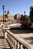 Ornamental Bridge at Plaza de Espana Seville