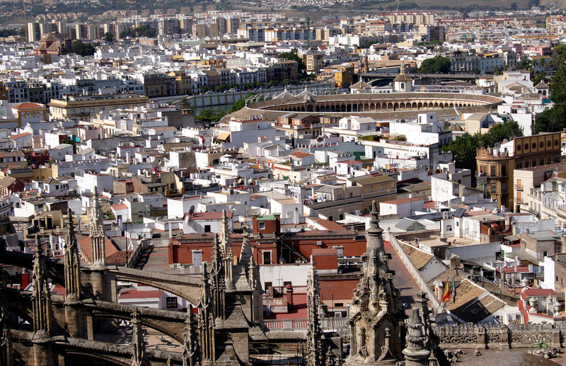 Seville cityscape and bullring
