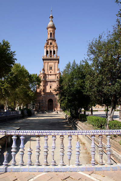 Tower at the Plaza de Espana Seville