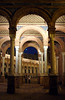 Arches in the Plaza de Espana Seville at night