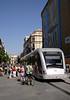 Modern tram in Seville October 2007
