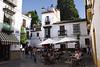 Cafe Santa Cruz district Seville October 2007