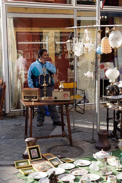 Vendor at Street Market Calle de la Feria Seville October 2007