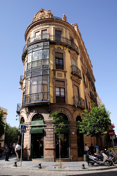 Ornate building in the El Arenal district Seville