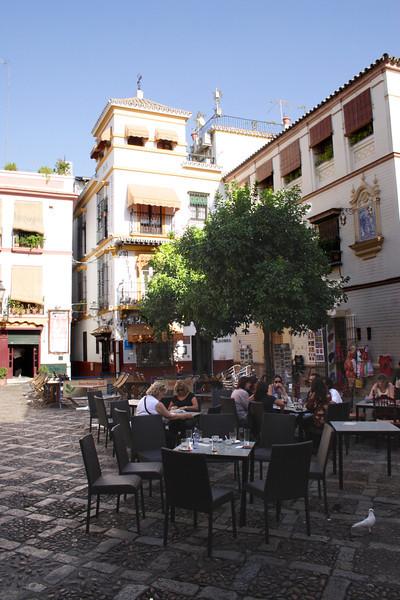 Cafe in the Santa Cruz District Seville