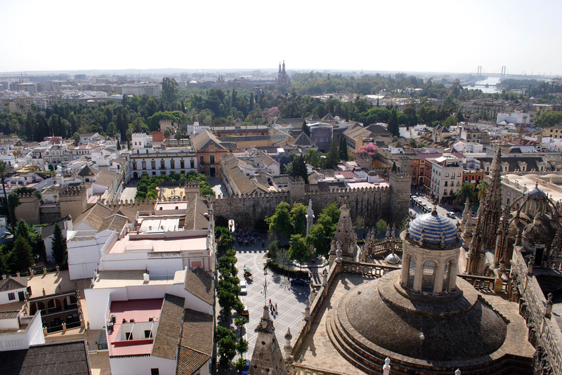 Seville skyline view from La Giralda Cathedral Bell Tower October 2007