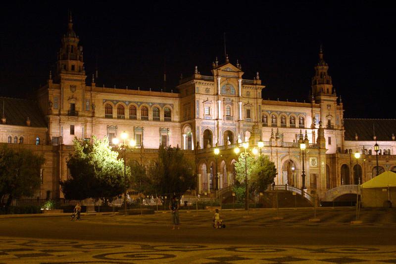 Plaza de Espana Seville at night