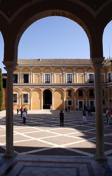 Patio del Crucero of the Palacio Pedro I Real Alcazar Seville