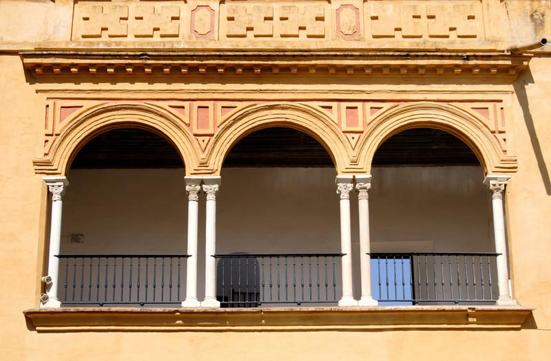 Moorish arches in the Real Alcazar Seville