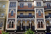 Ornate building Santa Cruz district Seville