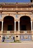 Arches at the Plaza de Espana Seville Spain