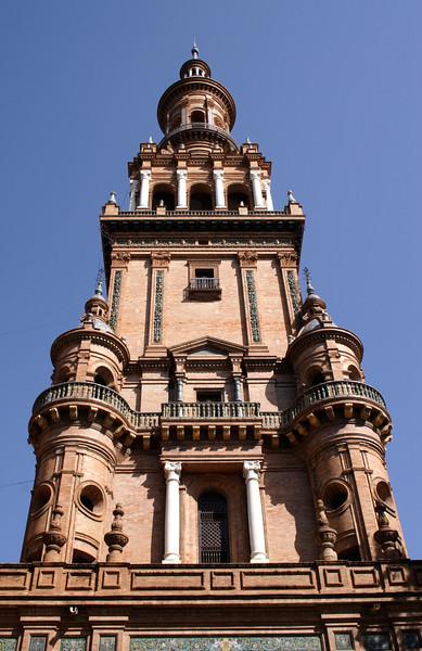 Tower at the Plaza de Espana Seville