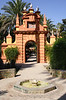 Gate in Real Alcazar Gardens Seville