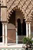 Moorish arch in the Patio de las Doncellas Real Alcazar Seville