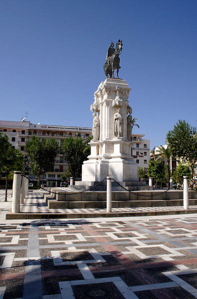 Plaza Nueva and monument of Fernando III Conquistador Seville