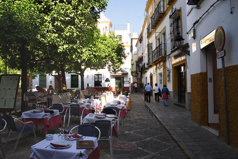 Cafe Santa Cruz district Seville