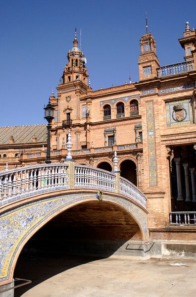 Ornamental Bridge at Plaza de Espana Seville